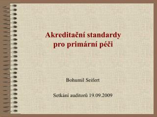 Akreditacn  standardy  pro prim rn  p ci