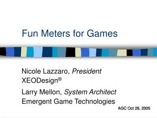 Fun Meters for Games