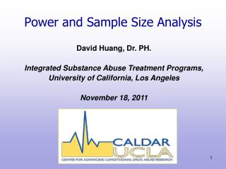 Power and Sample Size Analysis