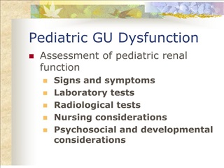 pediatric gu dysfunction