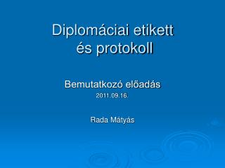 Diplom ciai etikett   s protokoll