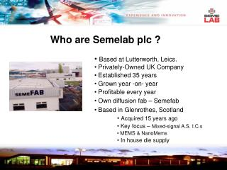 Who are Semelab plc