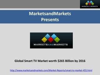 Smart TV Market, Connected/Hybrid TV Market(2011 - 2016)