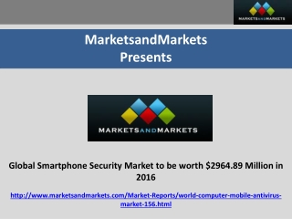 Global Smartphone Security Market by Operating Systems, Owne