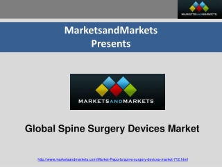 Spinal Implants Market Forecasts to 2017