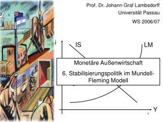 Prof. Dr. Johann Graf Lambsdorff Universit t Passau WS 2006