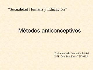 Sexualidad Humana y Educaci n
