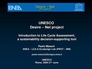 ecodesign and  life cycle assessment