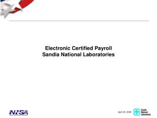 Electronic Certified Payroll Sandia National Laboratories