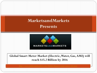 Global Smart Meter Market  by 2016