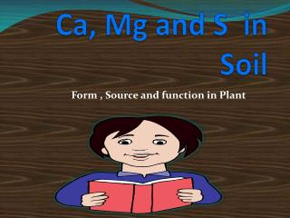 Ca, Mg and S  in Soil