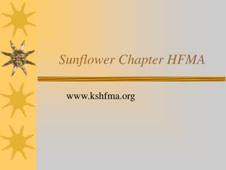 Sunflower Chapter HFMA