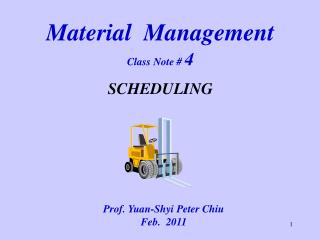 Material  Management  Class Note  4  SCHEDULING