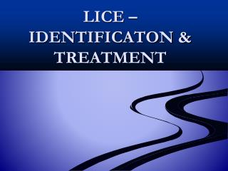 LICE   IDENTIFICATON  TREATMENT