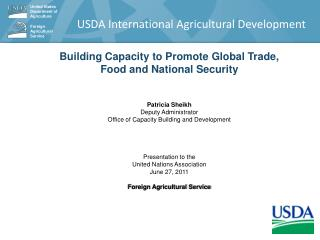 USDA International Agricultural Development