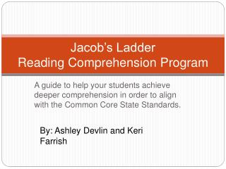 Jacob s Ladder Reading Comprehension Program