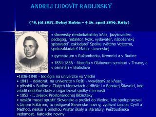 Andrej Ludov t Radlinsk