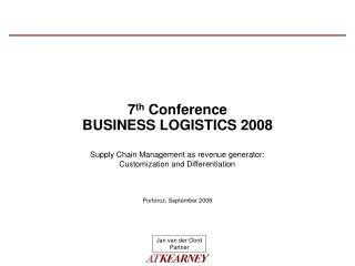 7th Conference BUSINESS LOGISTICS 2008