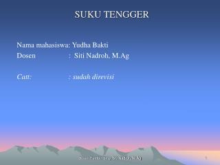 SUKU TENGGER