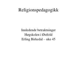 Religionspedagogikk