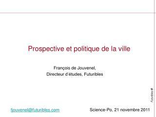 Prospective et politique de la ville