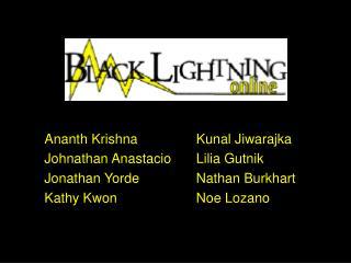 Ananth Krishna      Kunal Jiwarajka Johnathan Anastacio    Lilia Gutnik Jonathan Yorde     Nathan Burkhart Kathy Kwon