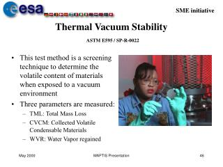 thermal vacuum stability  astm e595