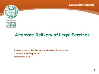 Alternate Delivery of Legal Services