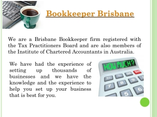 Bookkeeper Brisbane