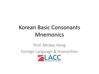 Korean Basic Consonants Mnemonics