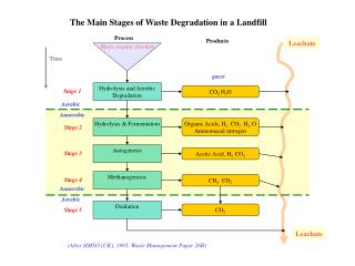 The Main Stages of Waste Degradation in a Landfill