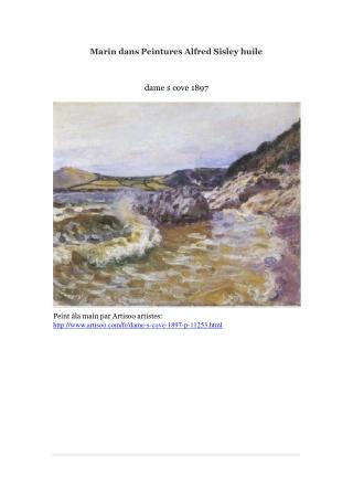 Marin dans Peintures Alfred Sisley huile -- Artisoo
