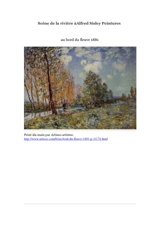 Scène de la rivière à Alfred Sisley Peintures -- Artisoo