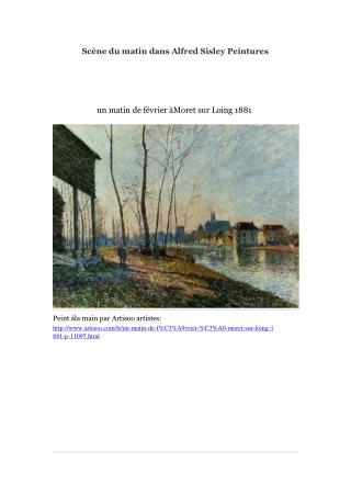 Scène du matin dans Alfred Sisley Peintures -- Artisoo