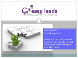 Easy leads - telemarketing leads