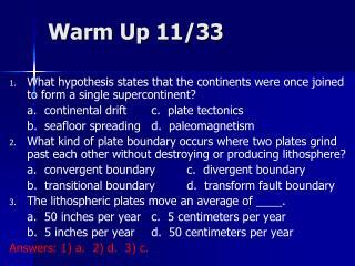 Warm Up 11