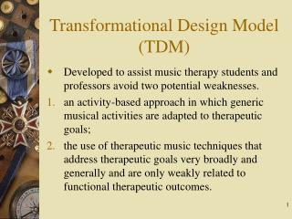 transformational design model tdm