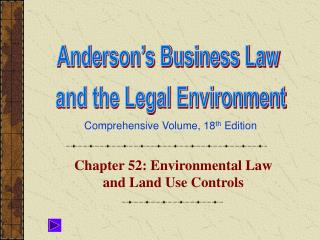Chapter 52: Environmental Law and Land Use Controls