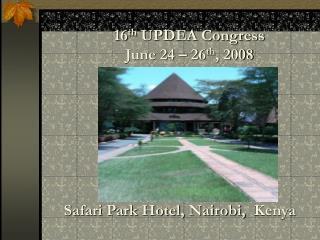 Safari Park Hotel, Nairobi,  Kenya