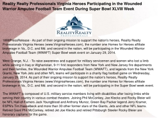 Reality Realty Professionals Virginia Heroes Participating