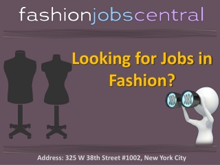 Fashion Jobs New York City