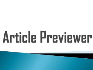 Article Previewer