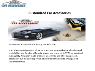 Truck and SUV Accessories Offered on CarAccessories.com Newl