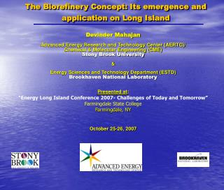 the biorefinery concept: its emergence and application on long island