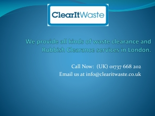 London Waste Collection, Waste Removal, Waste Clearance Lond