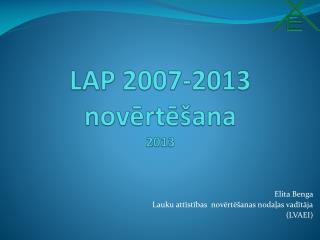 LAP 2007-2013 noverte ana 2013