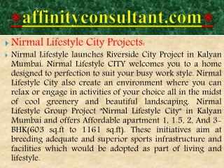 riverside kalyan project||nirmal city kalyan, nirmal lifesty