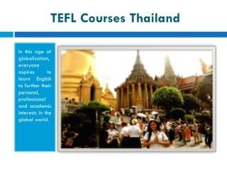 TEFL Courses Thailand