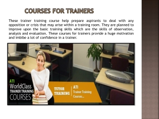 courses for trainers