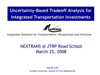Integrated Solutions for Transportation: Perspectives and ...